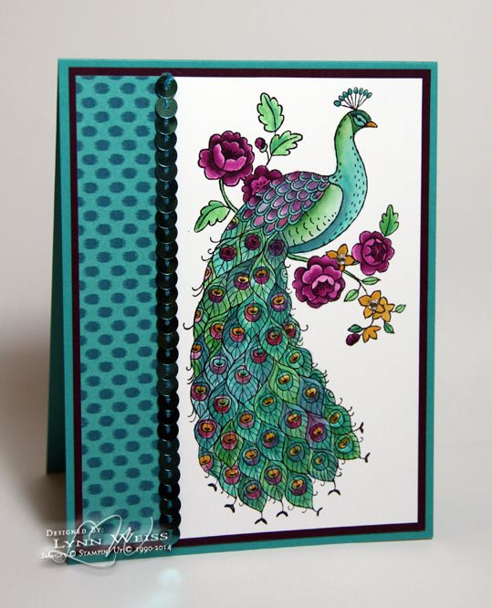 Stampin' Up! Perfect Peacock card - LW Designs: Bohemian Peacock