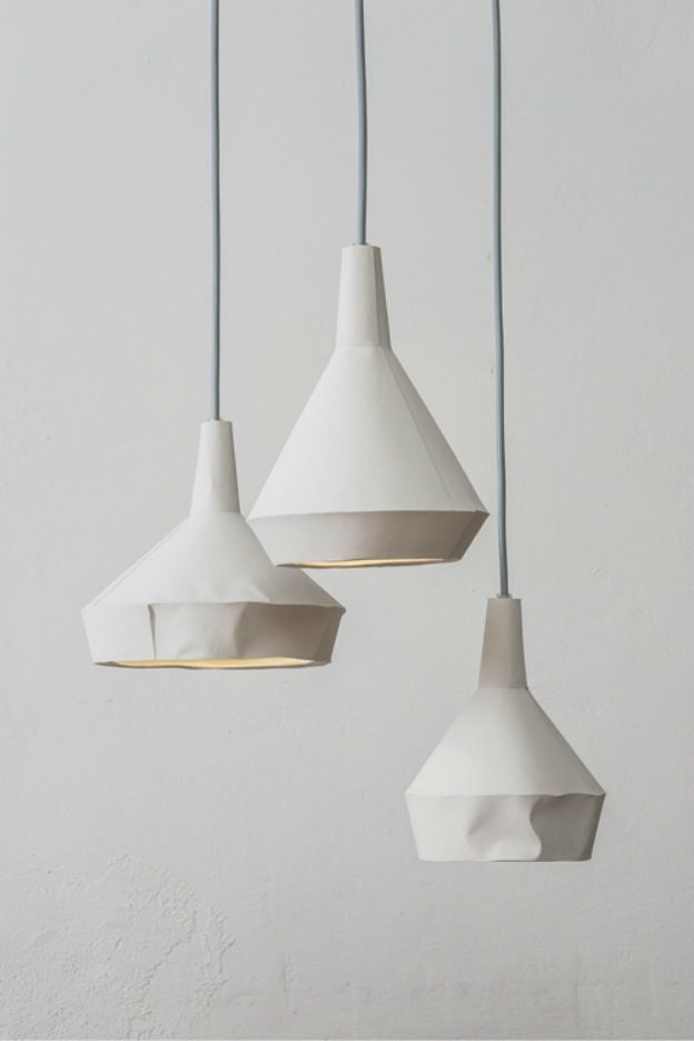 By Dua Like paper lamps concrete lighting available at S2 20 www.stwotwenty.com
