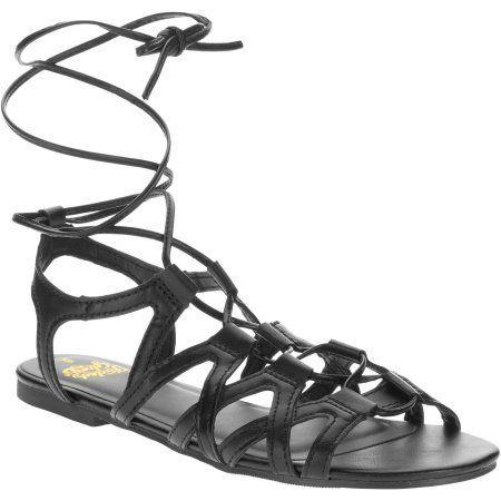 Faded Glory Women's Gladiator Sandal, Black
