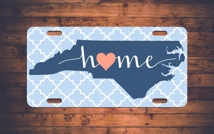 HOME NC License Plate North Carolina NC Custom Car Tag Customized Plate Personalized Gift - Customize your own! by TheMonogramStand on Etsy https://www.etsy.com/listing/261094893/home-nc-license-plate-north-carolina-nc