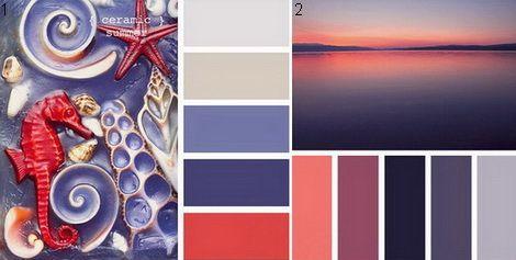 Сочетание синий и красный