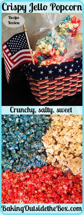 Baking Outside the Box: Crispy Jello Popcorn Recipe (Rainbow Cake Jello)