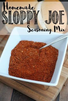 Homemade Sloppy Joe Seasoning Mix Recipe