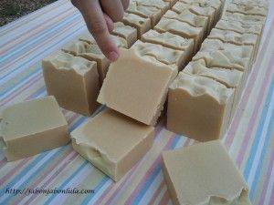como hacer jabón de avena
