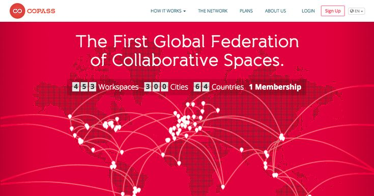 Copass is a global membership that lets you access a network of independent coworking spaces, fablabs, hacker spaces or any type of collaborative spaces and people with one single account.