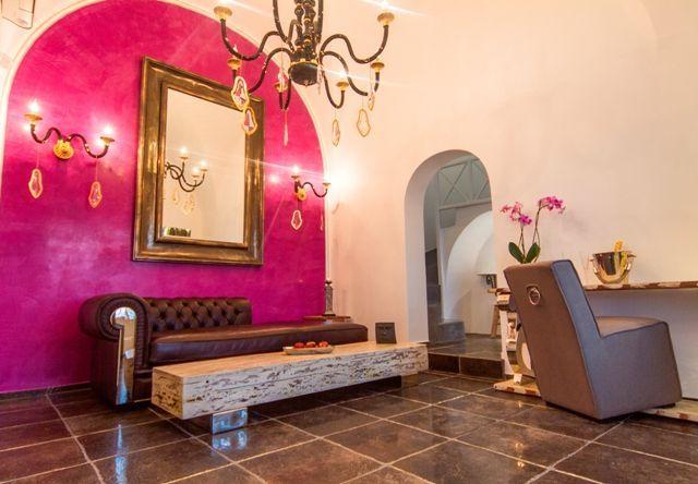 Living room at #AspakiSuites #ArtMaisons #Luxurious Accommodation #Santorini