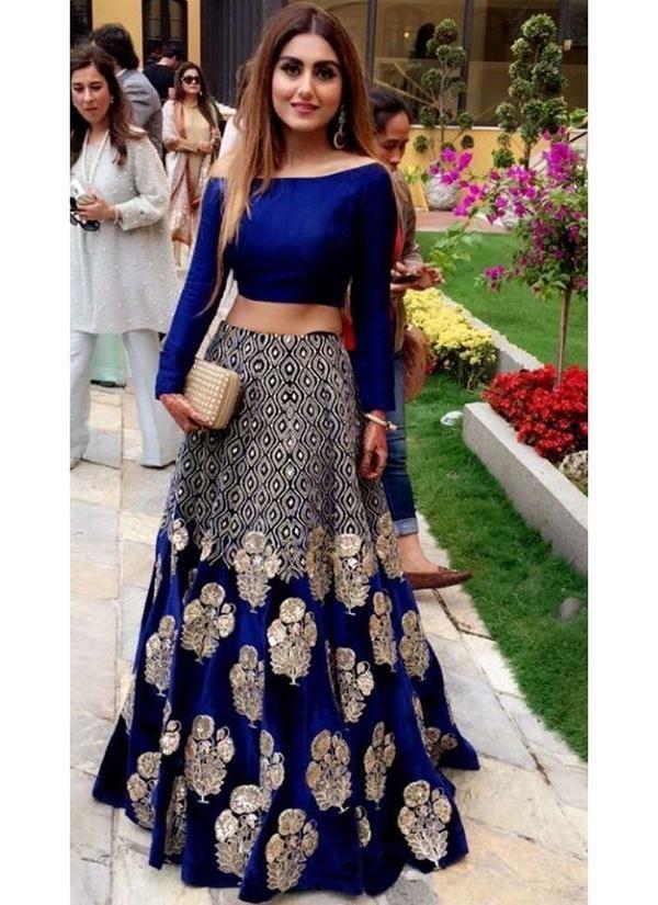211573e7f8 Exclusive Heavy Designer Beautiful Royal Blue Party Wear Lehenga Choli At  www.fabbily.com #lehenga #fashion #saree #indianwedding #indianfashion  #wedding ...
