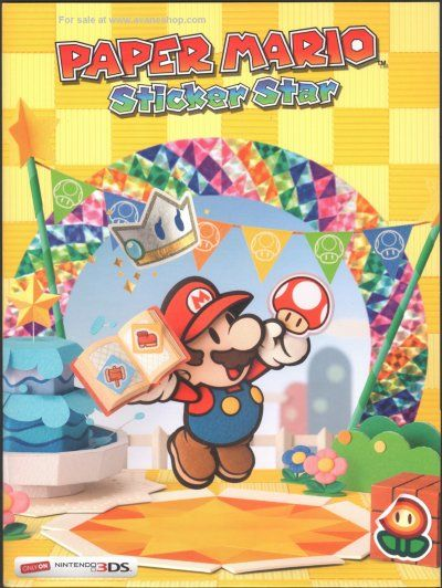Nintendo Promo Paper Mario Sticker Star 3DS 2 Pocket Folder