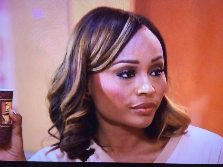 My day to day hairstyle, but love her highlights! Cynthia ...