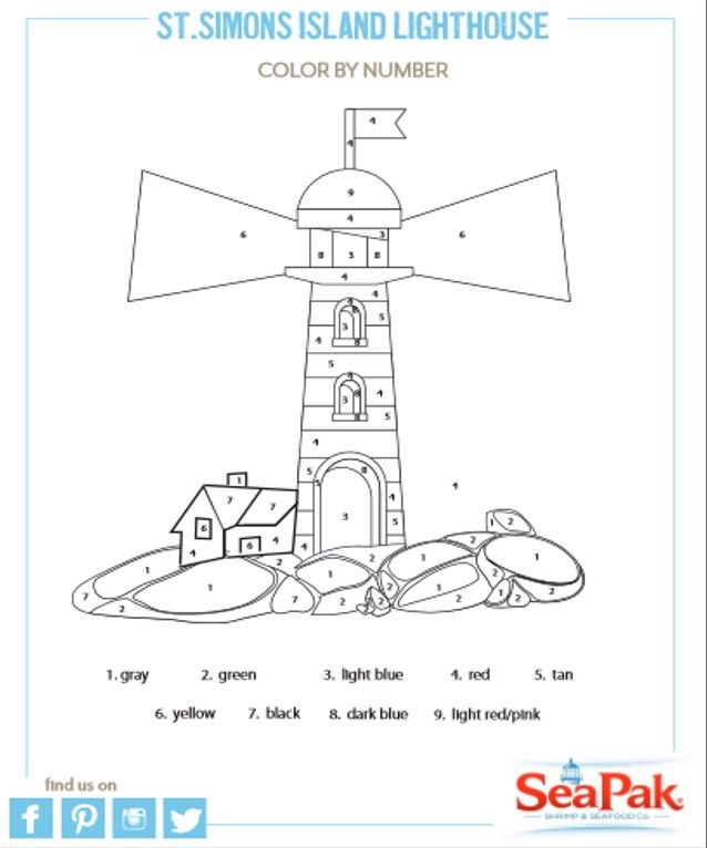 lighthouse keepers lunch coloring pages - photo#12
