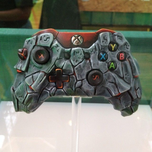 Custom XBOX One controller on display the the Area One ...