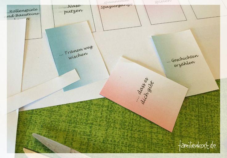 Bastelvorlage für Abschiedsgeschenk vom Kindergarten ausschneiden