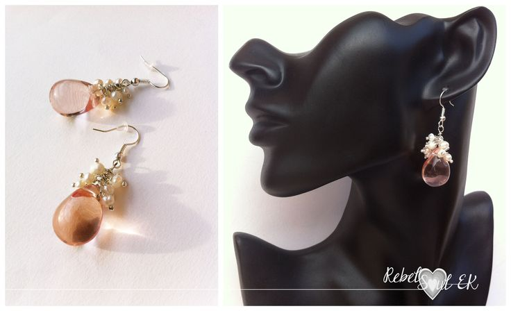 RebelSoulEK bijoux earrings with glass and pearls