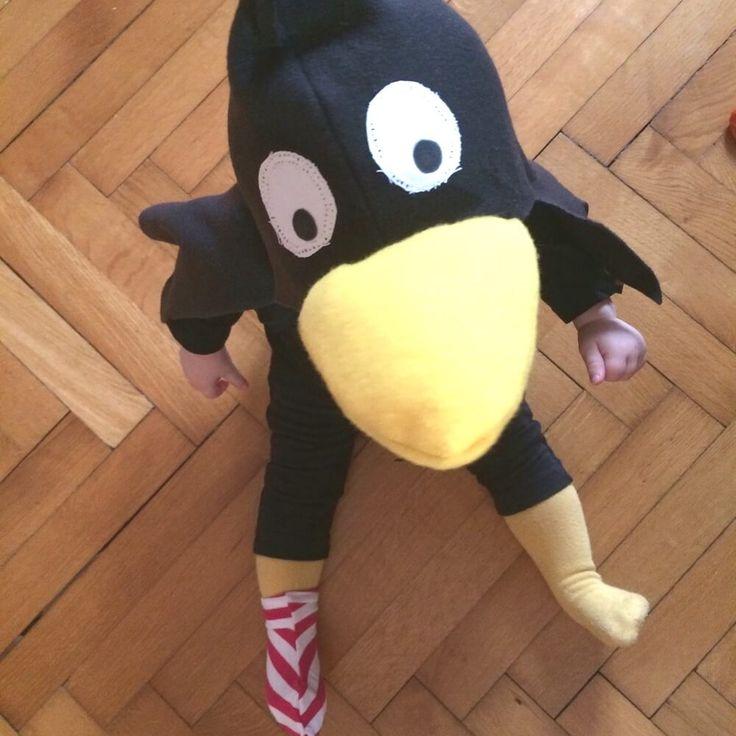 Kinder-Kostüm Rabe Socke Alle Jahre wieder: die Faschingszeit wird hier zwar nicht sehr überschwenglich zelebriert, aber im Kindergarten ist es doch üblich, dass die Kids am Faschingdienstag verkle…