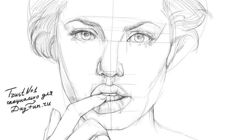 нарисовать портрет карандашом - Поиск в Google