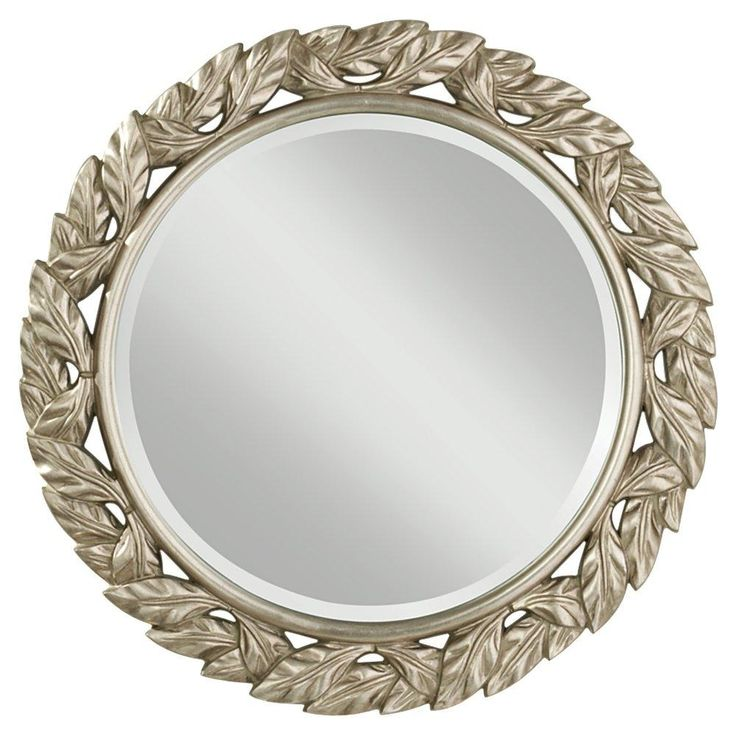 Silver Leaf Mirror With Organic Fell And Contemporary Silver Leaf Finish.  Brought To You By