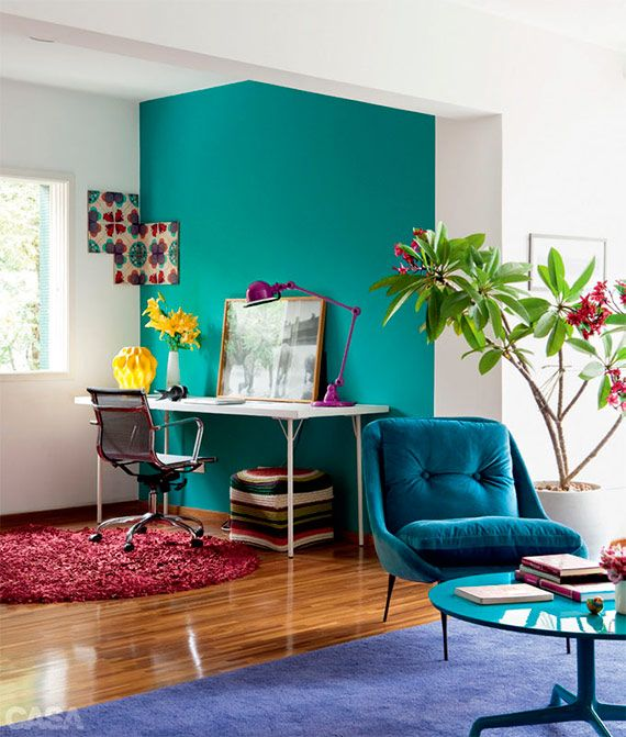 Turquoise Home Decor. One Small Wall
