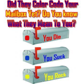FEMA Color Code Your Mailbox? Do You Know What Each Color Means - fema application form
