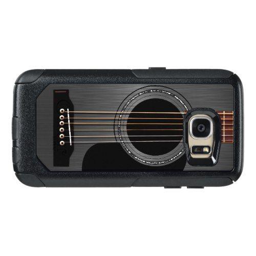 Black Acoustic Guitar OtterBox Samsung Galaxy S7 Case