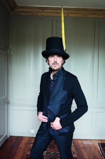Vivienne Westwood's husband Andreas  wearing a hats by Prudence Millinery for Gold Label Autumn Winter 2014 2015 http://prudencemillinery.com