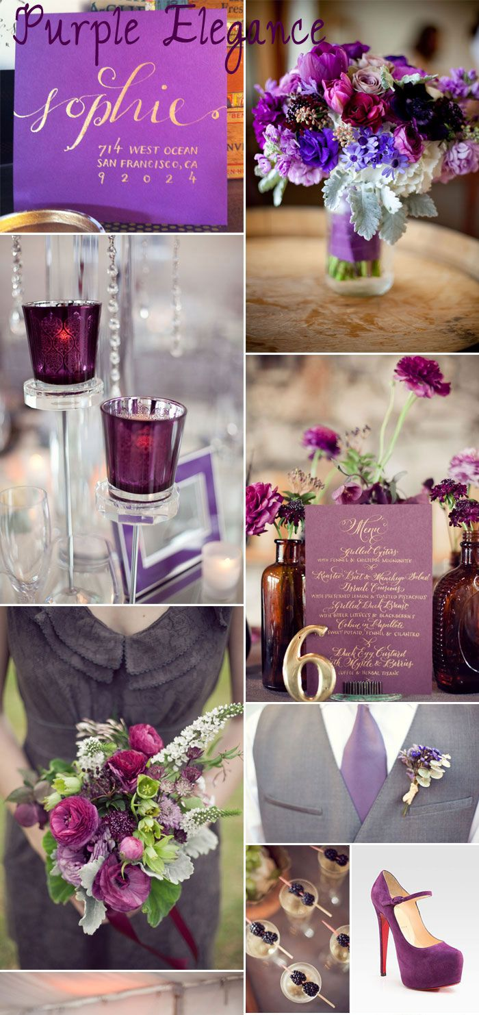 Gorgeous purple inspiration board.