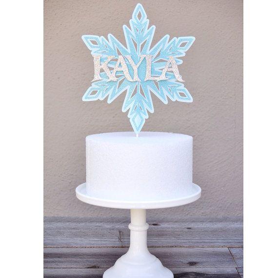 Etsy Frozen Cake Decorations : Frozen inspired Snowflake Cake Topper on Etsy, USD15.00 ...