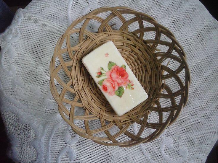 Jabón con decoupage