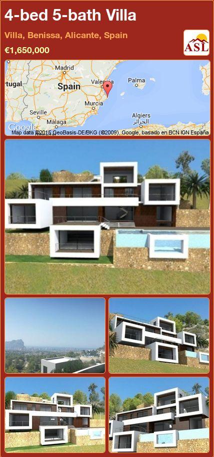 4-bed 5-bath Villa in Villa, Benissa, Alicante, Spain ►€1,650,000 #PropertyForSaleInSpain