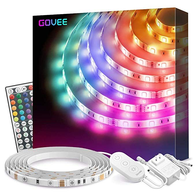 Amazon Com Led Strip Lights Govee 16 4ft Waterproof Rgb Light Strip Kits With Remote For Room Bedroom Led Strip Lighting Color Changing Led Strip Lighting