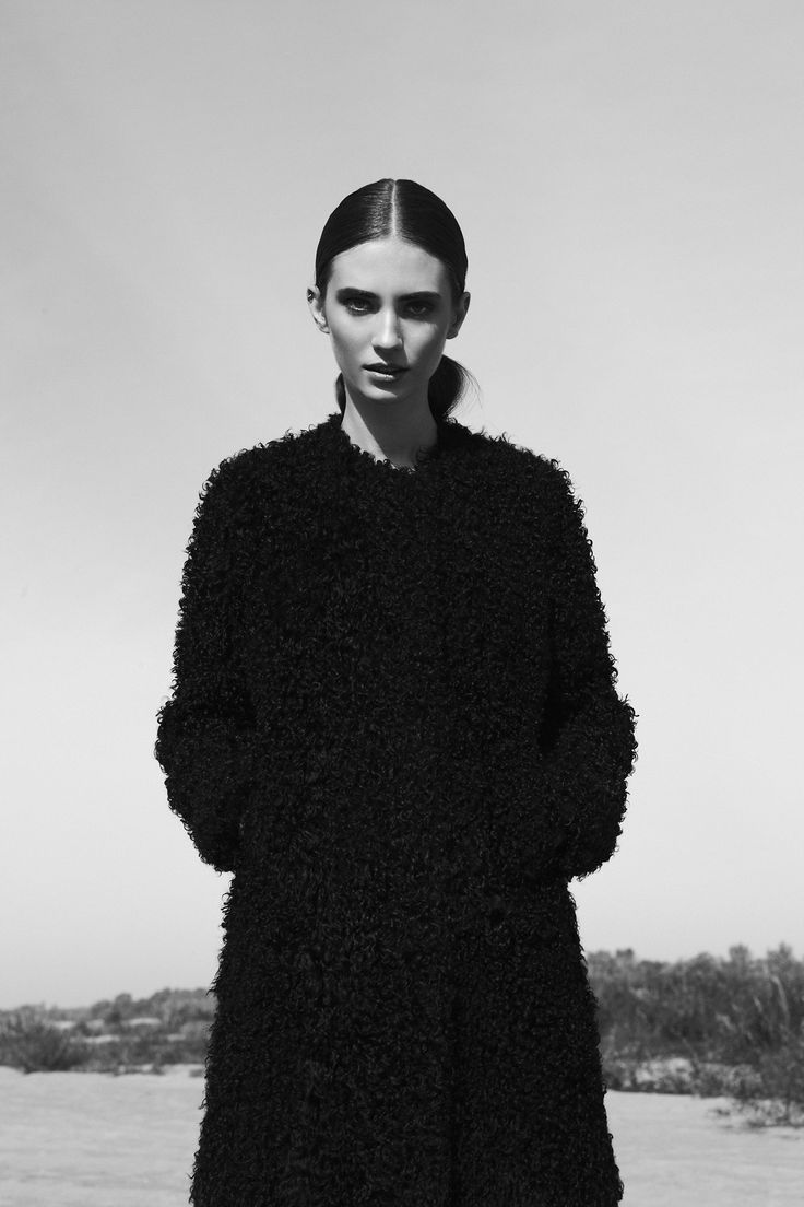 black textured coat #style #fashion #editorial