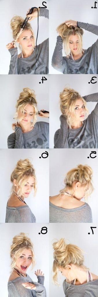 Casual Bun Frisur Zu Perfektionieren Chaotisch Brötchen Mühelos Chic Und Chaotisch Brötchen