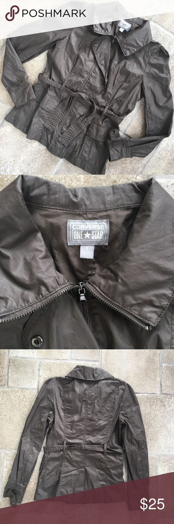 Converse Rain Jacket Converse Rain Jacket  size small worn but still in great condition  make an offer! Converse Jackets & Coats