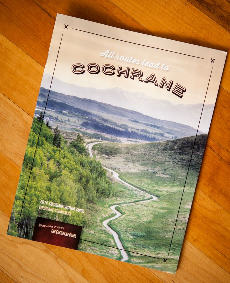 My Photo Is Cover For the Cochrane Visitor Guide 2014