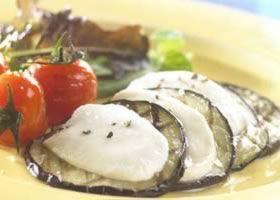 Recept voor Aubergine met mozzarella en gebakken kerstomaten | Solo Open Kitchen