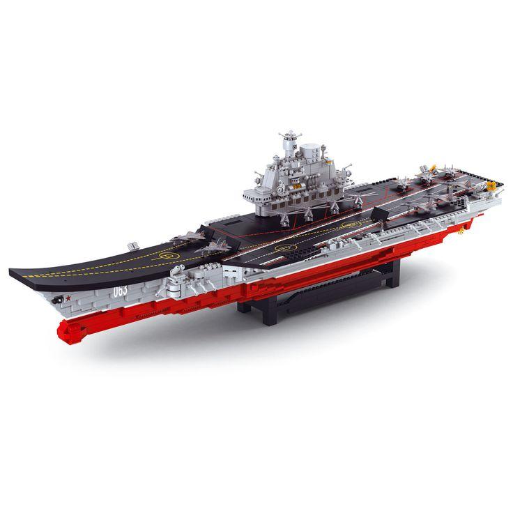 Bouw je eigen vliegdekschip met de bouwstenen van sluban. De bouwstenen van Sluban sluiten ook aan op andere merken bouwstenen.Afmeting:  89 x 21 x 22 cm - Sluban Vliegdekschip
