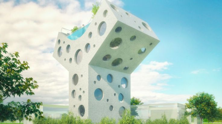 Y-shaped house from MVRDV.