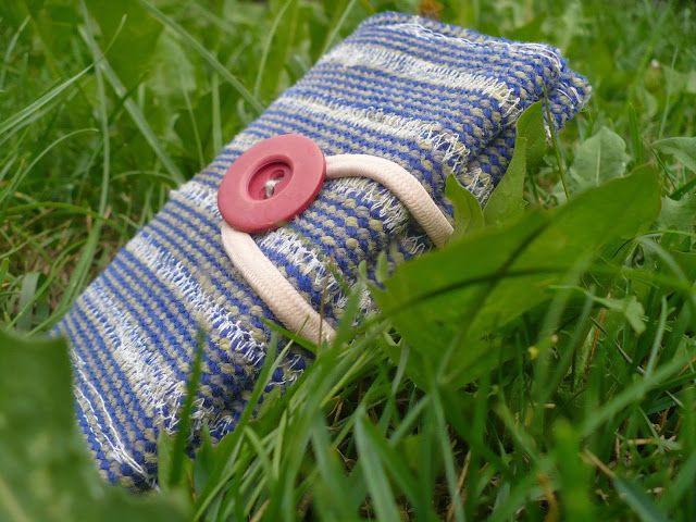 Kartenetui aus einem alten Kletterseil / Card case made from old climbing rope