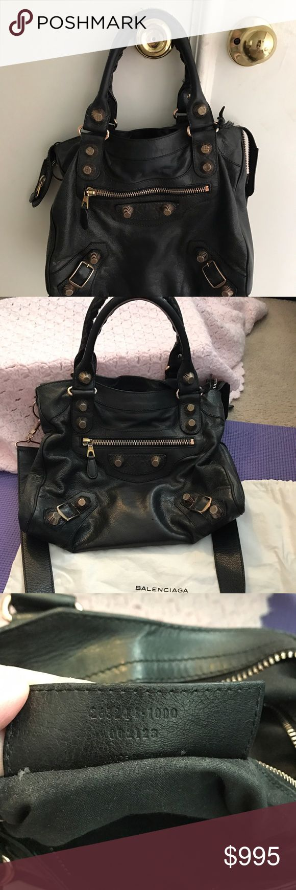 Balenciaga Velo Arena Large used but still has a lot of life. classic beautiful purse. 13x7x2.5. comes with dust bag. wrinkled lambskin. rosegold hardware. Balenciaga Bags Crossbody Bags