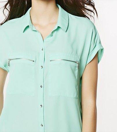 This minty crepe blouse is a desk-to-dinner favorite.