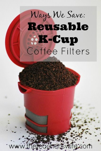 Using a Keurig machine for your coffee doesn't have to break the bank.  While I still buy K-cups to have on hand, I use my reusable K-cup coffee filter almost all the time for my daily cup of coffee.  They are a great way to get your single cup while still using regular coffee grounds.