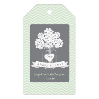 Sweet Mason Jar Neutral Baby Shower Gift Tag Pack Of Gift Tags