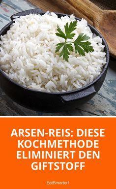 Bitte repinnen! Mit dieser Kochmethode kannst du den Arsen-Gehalt in Reis deutlich minimieren.