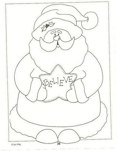 Riscos de Natal para pintura em tecido!