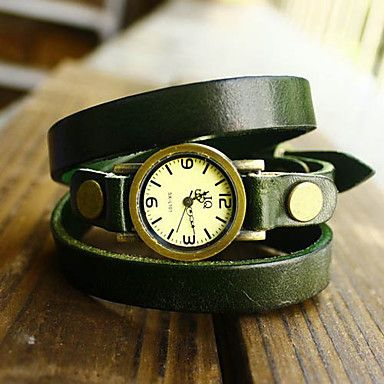 We love this aged leather bracelet watch. If you like it too, then take your chance to get it with up to 41% Off!