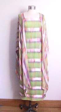 Watercolor gown from the 1960s.