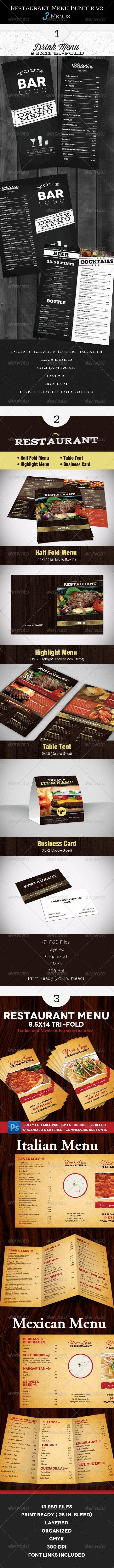 Restaurant Menu Bundle 2 51 best Flyer