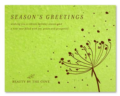 43 best holiday business cards images on pinterest visit cards green corporate holiday cards on seeded paper organic floral by green business print garden reheart Gallery