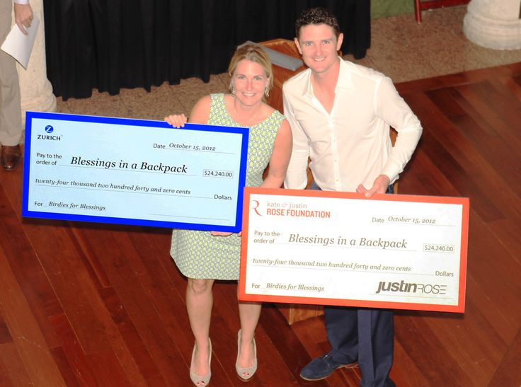 Zurich North America helps feed 600 children alongside PGA TOUR golfer Justin Rose through Blessings in a Backpack