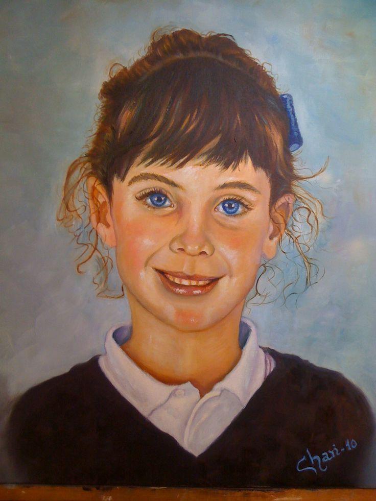 Retrato pintado a Óleo por Chari González