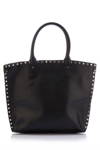 Rahatına düşkün bayanlar için tasarlanmış, zımba detayı ve elde tutma özelliği ile kolay taşınılabilen, şık tasarımı ile trend bir görünüm sağlayan DeFacto bayan çanta.